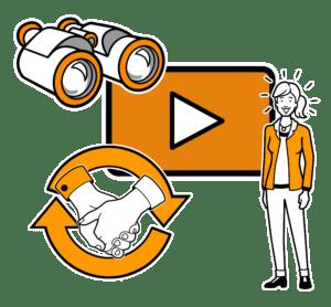 auf jeder Website ein gut platziertes Unternehmensvideo