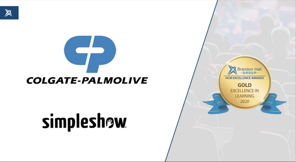 simpleshow and Colgate-Palmolive Win Brandon Hall Group Gold Award