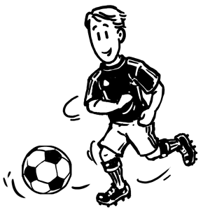 Footballer Illustration
